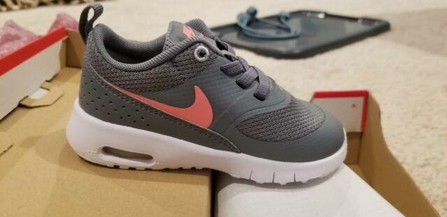 Nike Air Max Thea Sneakers Girls Size 7c NWB Cool Grey Lava Glow