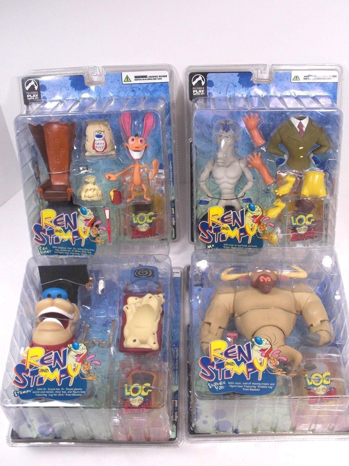 precios ultra bajos Ren & Stimpy serie 1 figura conjunto conjunto conjunto Palisades 2004 afeitados Yak Mr. caballo Ren Stimpy  venta caliente