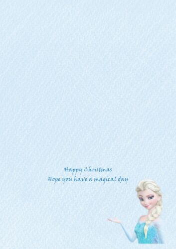 Frozen personalised A5 Christmas card daughter sister niece granddaughter name
