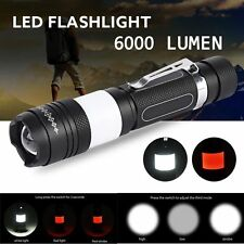 Zoomable 6000LM XML T6 LED USB Rechargeable 18650 Tactical Flashlight Torch Lamp