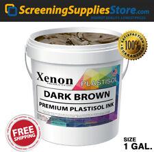 Xenon Dark Brown Plastisol Ink For Silk Screen Printing 1 Gallon 128oz