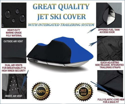 BLACK//BLUE Seadoo Bombardier RXP 2004 2005 2006 Jet Ski Trailerable Cover