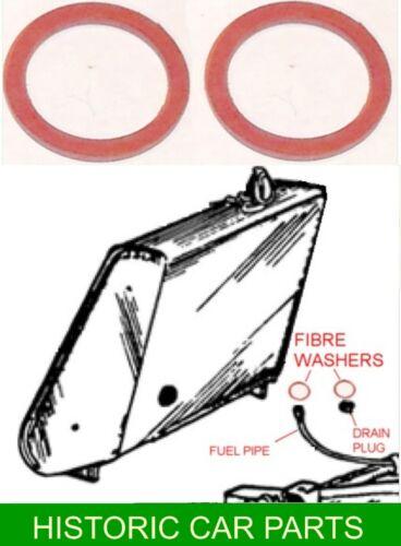 Tanque De Combustible Tubo Sello /& Arandelas de sellado Tapón de Drenaje Mg TC Enano 1945-50