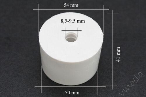 1 x Gummistopfen 54//50 für 8,5//9,5 mm Gärröhrchen