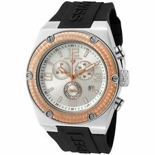 Swiss Legend Original 30025-02S-RB Throttle Swiss Chrono Silver Dial Blk Strap