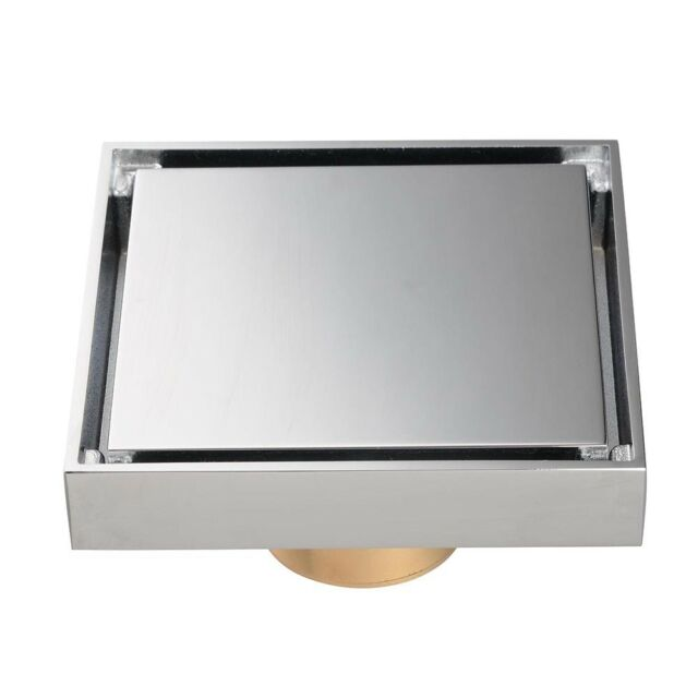 Yescom 4x4inches Square Shower Floor Drain Chrome Commercial Home