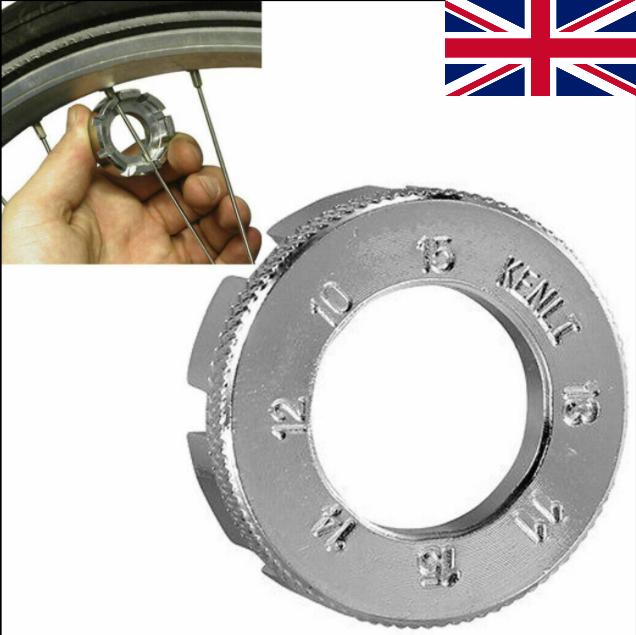 8 Way Bike Spoke 10-15 Wheel Rim Key Tool Cycle Bicycle Nipple Spanner Wrench-UK