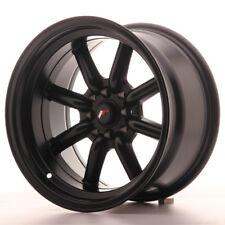 "Un Cerchio in lega Japan Racing JR19 15/"" x 9/"" ET-13 4x100//114 Nero Opaco"