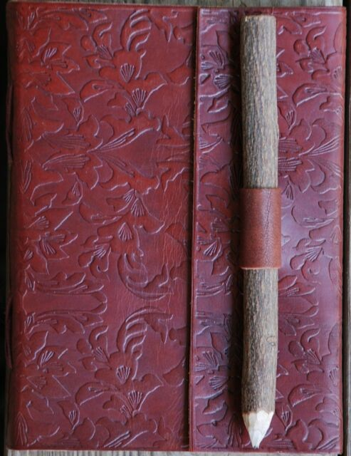 Handmade Floral Design Tooled Leather Blank Journal Diary Notebook Book (570)