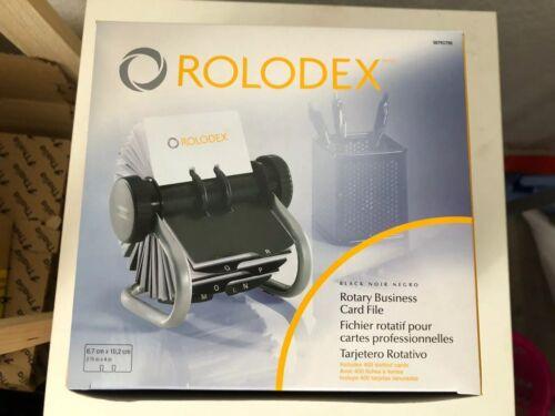 ROLODEX Rollkartei Classic Chrome S0793790 200 Kartenhüllen 400 Visitenkarten