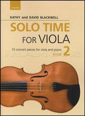 Solo Time for Viola 2 Sheet Music Book with Piano 15 Concert Pieces Classical