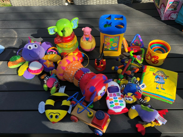 Lamaze, LEGO, BRIO , fisher Price etc, aktivitetslegetøj,…