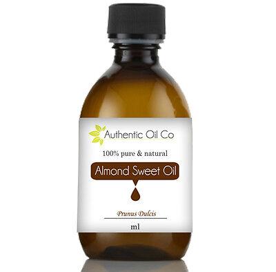 Almond Sweet Oil 100% Pure 5ml 50ml 100ml 250ml 500ml 1 litre