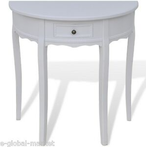 Image Is Loading Wooden Half Moon Round Hall Table Side Console