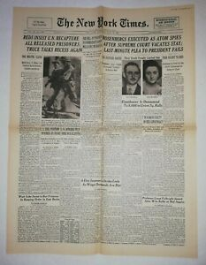 N857-La-Une-Du-Journal-The-New-York-times-1953-Rosenberg-executed