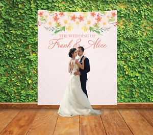 Personalized Wedding Backdrop Banner Custom Bridal Sign Reception Decoration 9 Ebay