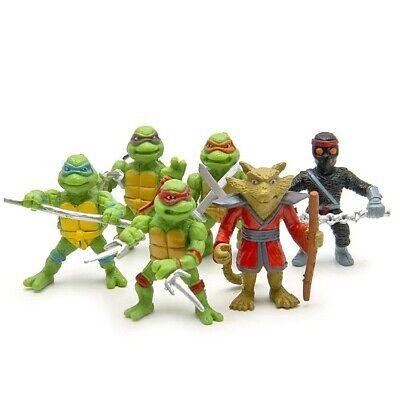 6 PCS Teenage Mutant Ninja Turtles 2nd Action Figures Toys Kid Gift