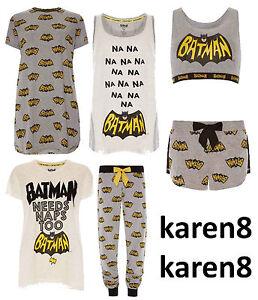 60fadad55 La foto se está cargando Senoras-Batman-Pijamas-primark-Dc-Comics-Para-Mujer -