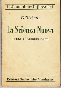 LA SCIENZA NUOVA di G. B. Vico ed. Mondadori