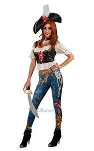 pirate-adulte-Boots-des-Caraibes-boucanier-FEMMES-COSTUME-DEGUISEMENT-ET-CHAPEAU