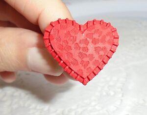 BAGUE-Coeur-en-Fimo-Bijou-Neuf-amp-Unique-Taille-Ajustable-idee-Cadeau-Amoureux