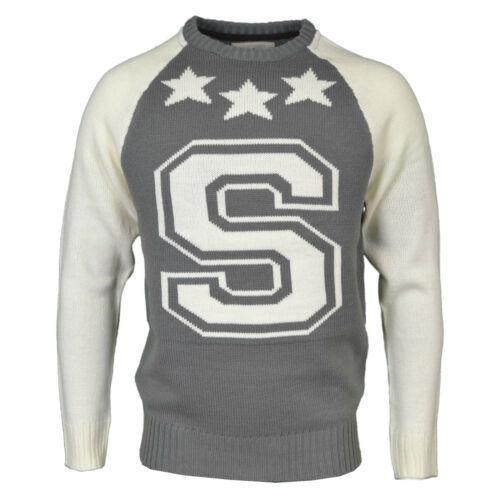 Soulstar homme neuf de la marque en maille casual pull over étoiles chandail Bnwt