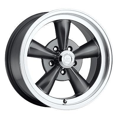 "17/"" Vision 141 Legend 5 Black Machined Wheel 17x8 5x4.75 0mm Chevy Buick 5 Lug"