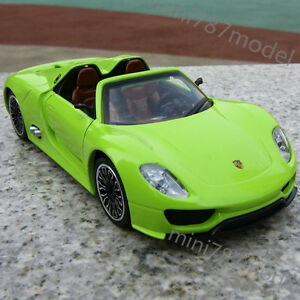 Porsche-918-Spyder-Green-New-1-32-Model-Cars-Collection-amp-Gifts-Alloy-Diecast
