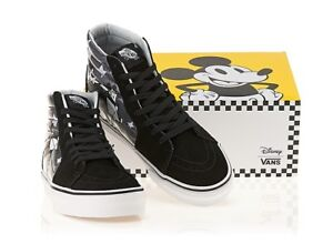 7aa12b9739110a Vans SK8-HI Athletic Shoes Disney Mickey Plane Crazy True White 90th ...