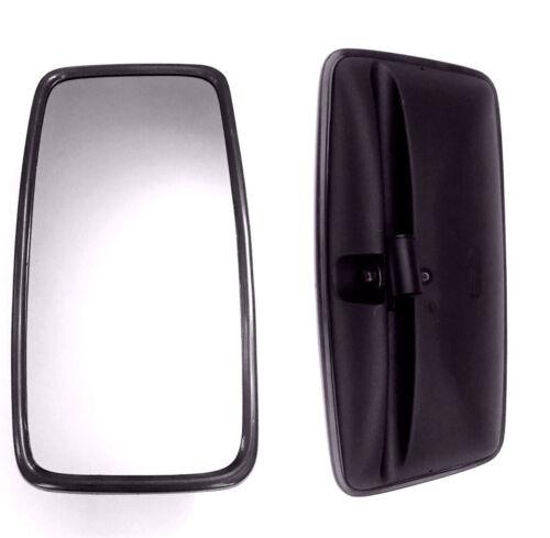 2x Außenspiegel Rückspiegel LKW Universal BUS Mercedes Volvo 410x205mm ø15-30mm