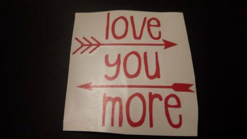 love you more  VINYL DECALS  baubles box frames wine glass valentines day