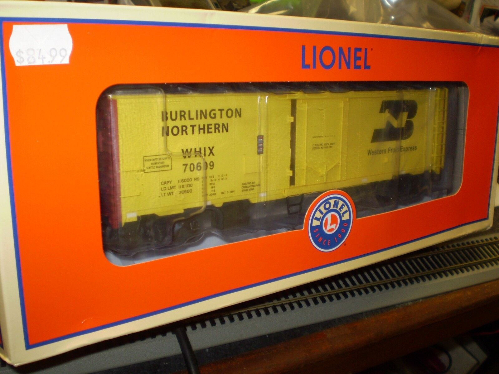 O-Gauge  Lionel 6-84119   BN 40' Scale Reefer  70609 NEW NIB