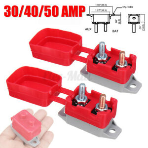 30//40//50A 24V Circuit-Breaker With Cover Audio Bimetal Structures IP66 Fuse-Kit