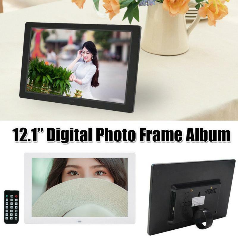 12.1in Marco de Fotos Digital  HD 1280x800 LED Video musical electrónico álbum de fotos  precio razonable
