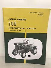 John Deere 140 Hydrostatic Tractor Owner Operator Manual User Guide Om M43688