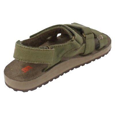 Jungen Caterpillar Khaki Grün textil Klettverschluss riemen sandalen UK 11/