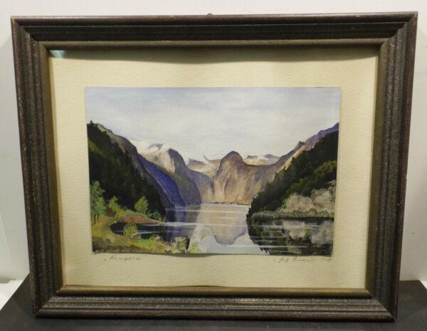 """ Lago Del Rey Vista Paisaje"" Aqua Unl.sign Dat.fritz Thorhauer 1945 In Marco"