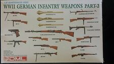 WWII GERMAN INFANTRY WEAPONS PART 2 MODEL 1:35 QUARTERMASTER SERIES MADE BY DML