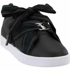 puma smash buckle casual shoes  black  womens  ebay