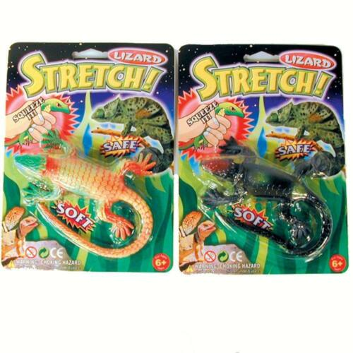 4 LARGE AMAZING STRETCH NOVELTY LIZARDS play toy reptile stress reliever rubber