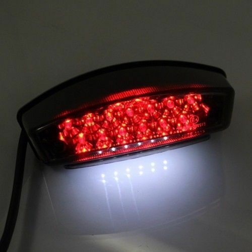 Smoke Rectangle LED Brake Tail Light Dirt Bike Quads Dual Sport CRF ATV Off-Road