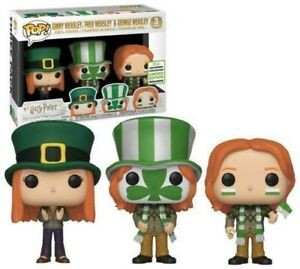 Funko Pop Harry Potter Ginny Fred and George Weasley 3 Pack 2019 ECCC GRAIL