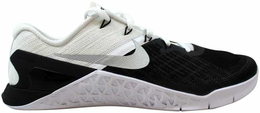 Nike Metcon 3 Black White-Metallic Silver 852928-005 Men's Size 8