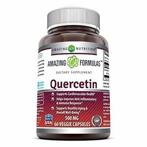 Natural Quercetin 500 Mg - Cardiovascular Health Anti-Inflammatory (60 Caps)
