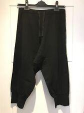 Vince Black Stretch Harem Pants Pockets Cropped Tie Waist S Small New NWT