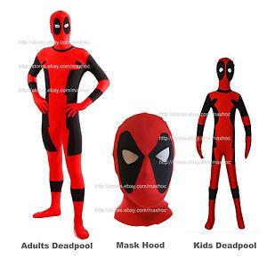 Deadpool Costume Kids Deadpool Zentai Deadpool Mask Hood Deadpool ...