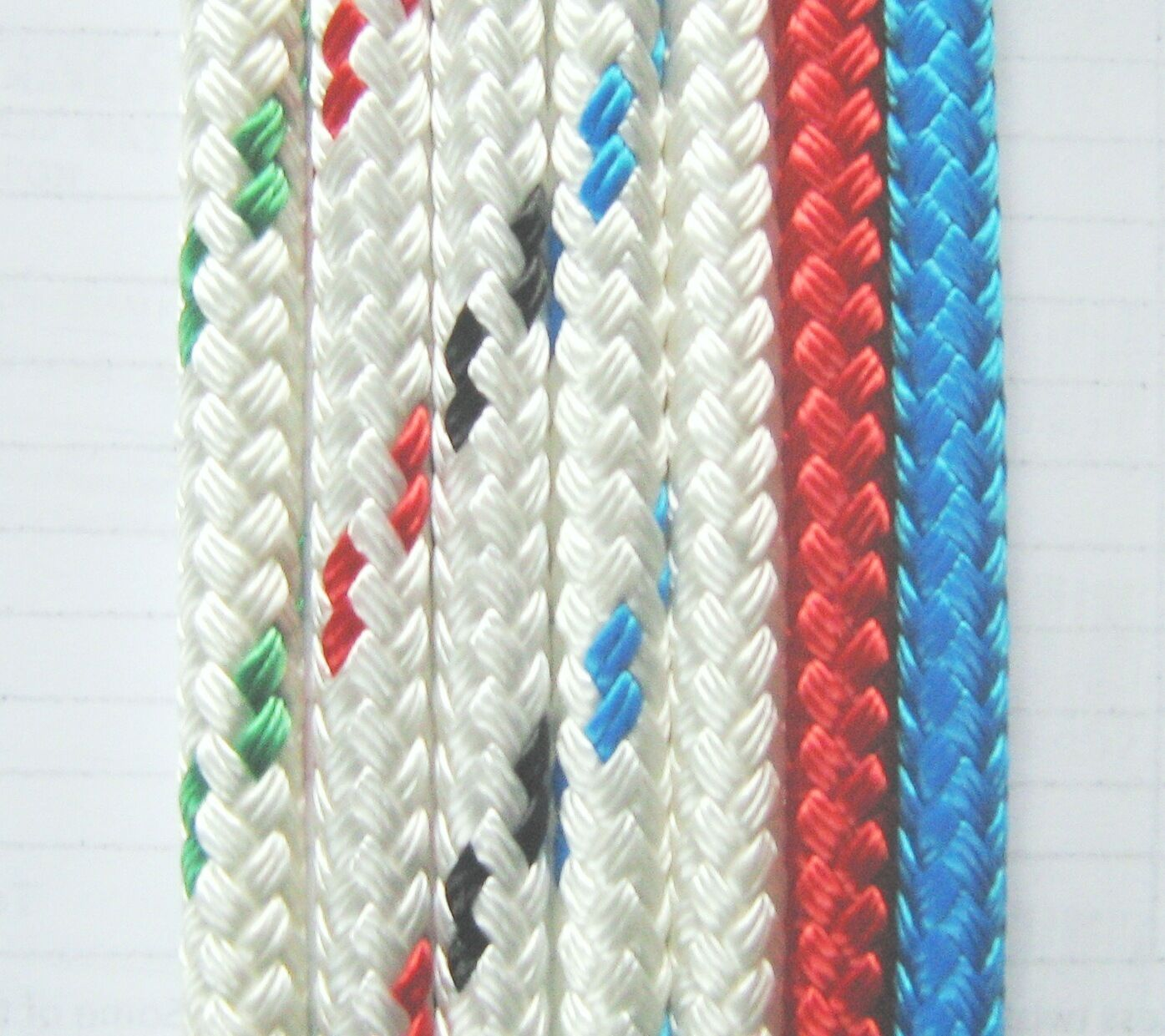 Halyard rope polyester Yacht Braid LS  10mm,  12 metres to 40 metres, 7 colours