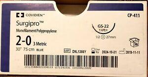Covidien-Surgipro-cp411-2-0-30-034-gs-22-Taper-47mm-35-box-EXP-10-31-2024