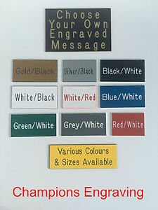 034-CHOOSE-YOUR-OWN-ENGRAVING-034-Sign-Plaque-Choice-of-Sizes-amp-Colours-FREE-P-amp-P