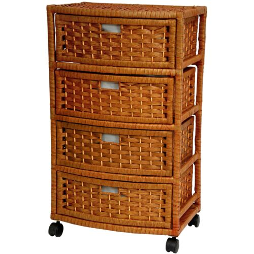 Oriental Furniture Natural Fiber Chest of Drawers Four Drawer